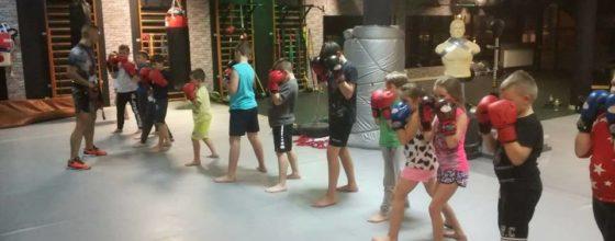 Kolejne stopnie młodych kick boxerów